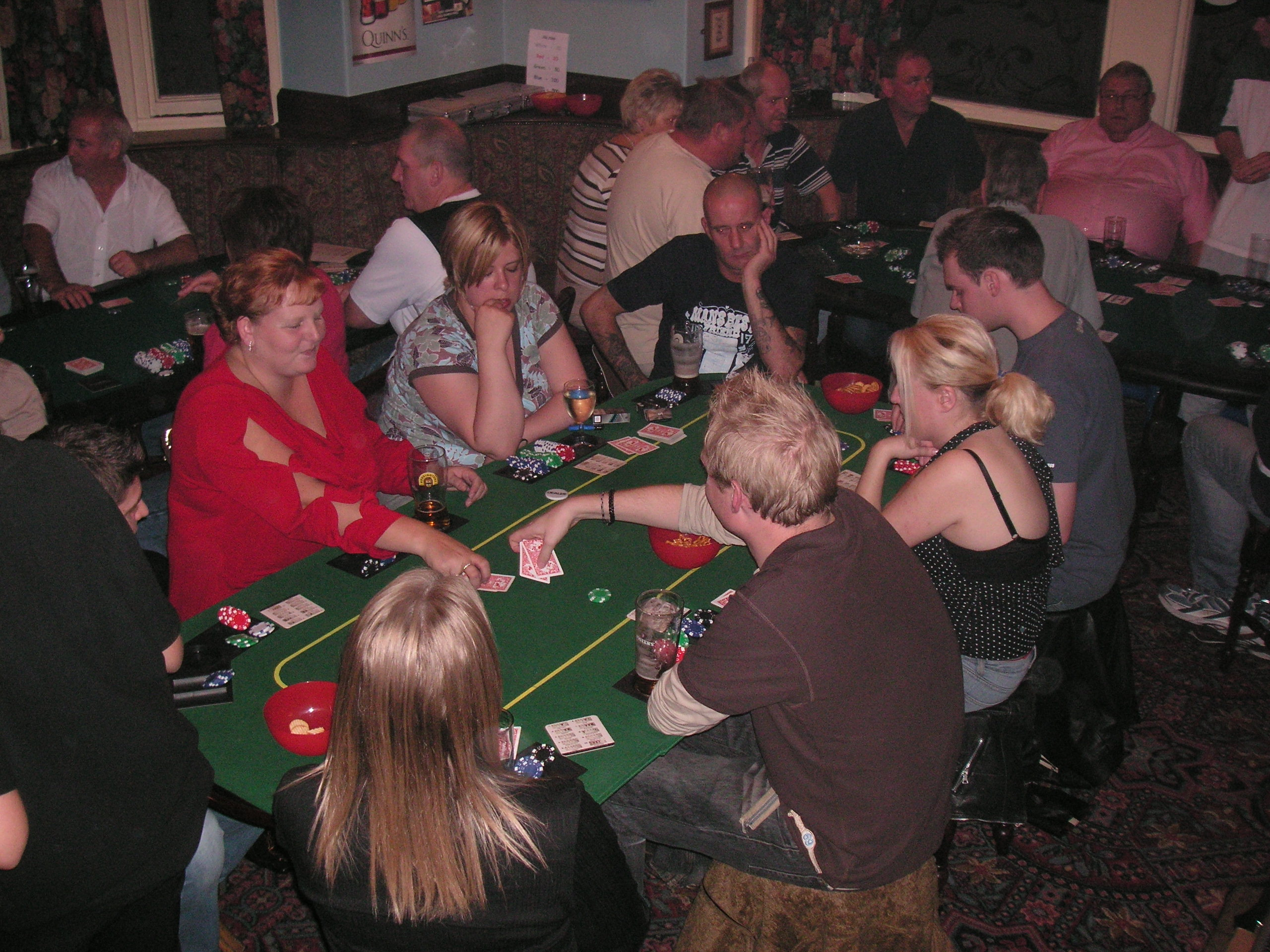 Poker In The Pub - Fun Casino Hire - R Leisure Hire Ltd - Areas we cover for Fun Casino Hire include Lancashire, Cumbria, Cheshire, Merseyside, Manchester, Yorkshire, Lancaster, Leeds, Kendal, Windemere, Barrow-in-furness, Carslile, Preston, Blackpool, Wigan, Bolton, Blackburn and all surrounding areas. Call us for more info.